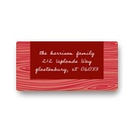 Rustic Panel in Red -- Christmas Address Labels