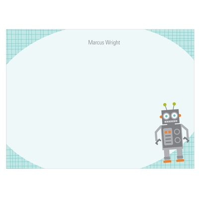 Robot Messaging Kids Stationery