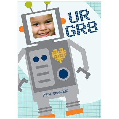 Robot Greatness -- Kids Valentine's Day Card
