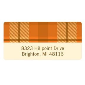 Fall Plaid -- Thanksgiving Address Label