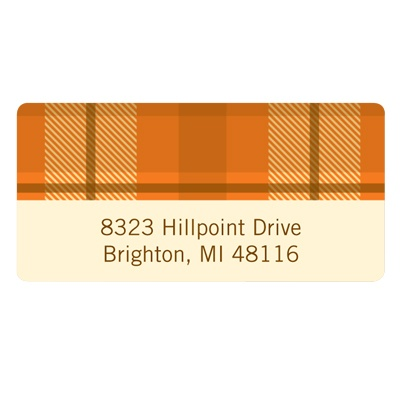Fall Plaid Thanksgiving Address Label