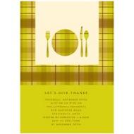 Dinner Time! Thanksgiving Invitation in Green