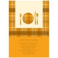 Dinner Time! Thanksgiving Invitation in Orange