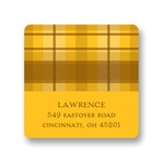 Thanksgiving Plaid -- Thanksgiving Address Label in Yellow