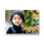 Banners and Branches -- Horizontal Thanksgiving Photo Cards