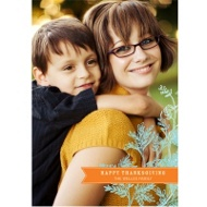 Banners and Branches Vertical Thanksgiving Photo Cards