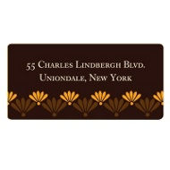 Feather Stamps Thanksgiving Address Label