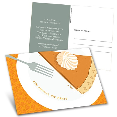 A Piece of the Pie -- Thanksgiving Postcard
