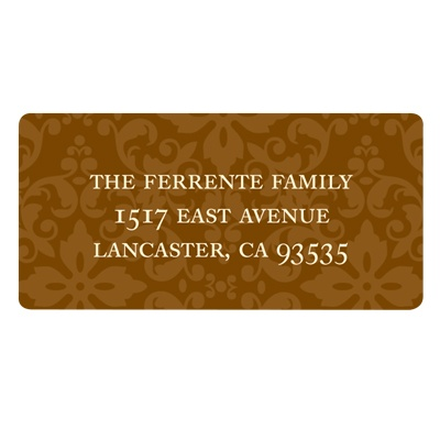 Chic Backing Thanksgiving Address Label