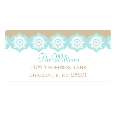 Snowflake Kaleidoscope -- Christmas Address Labels
