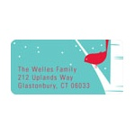 Happy Holidays Bird Chirps in Blue -- Christmas Address Labels