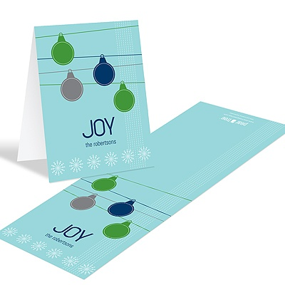 Ornamental Joy in Green -- Christmas Thank You Card