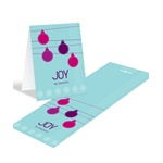Ornamental Joy in Pink -- Christmas Thank You Card