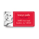 Adorable Photo, Adorable Dots -- Christmas Address Labels