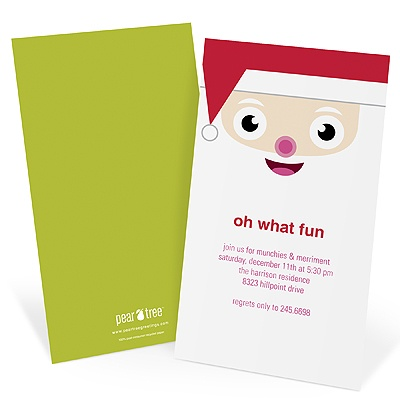 Hello Santa Holiday Party Invitations