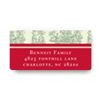 Toile Memories -- Christmas Address Labels