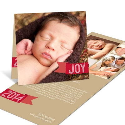 Joyful Greeting Tag -- Christmas Birth Announcements