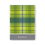 Playful Plaid in Green -- Christmas Thank You Card