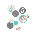 Numbers and Pinstripes -- Kids Party Decorations
