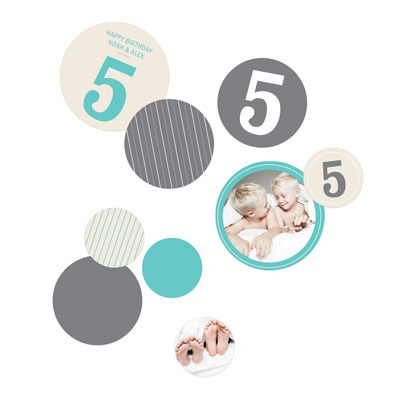 Numbers and Pinstripes Kids Party Decorations