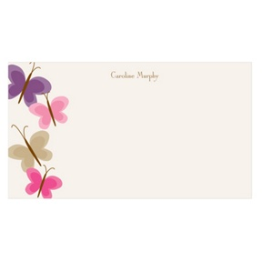 Butterfly Flurry -- Kids Personalized Stationery