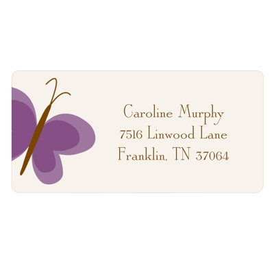 Butterfly Flurry Kids Address Label
