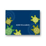 Sea of Turtles in Blue -- Kids Personalized Stationery