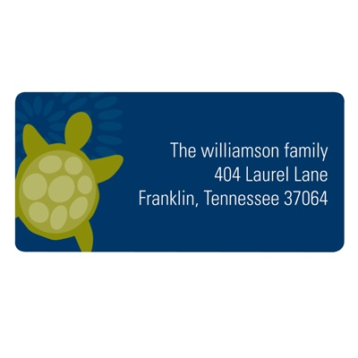 Sea of Turtles in Blue Kids Address Labels