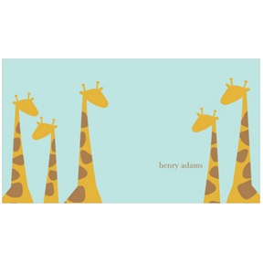Giraffe Family in Blue -- Kids Stationery