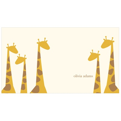 Giraffe Family in Ecru Kids Stationery