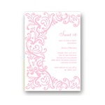 Curled Up in Elegant-- Sweet 16 Party Invitations