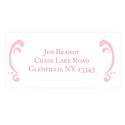 Curled Up in Elegant Address Labels