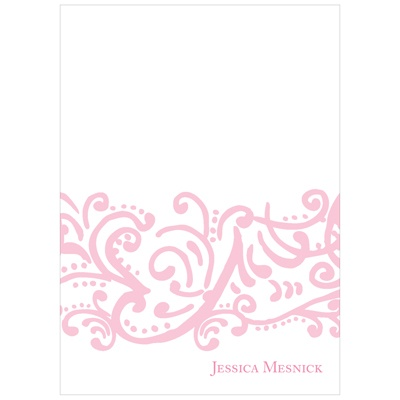 Curled Up in Elegant Sweet 16 Thank You Cards