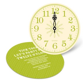 Tick Tock! -- Holiday Party Invitations