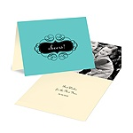 New Year's Cheers in Aqua -- Photo New Year's Cards