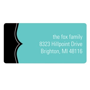 A Fine Line in Aqua -- New Year's Address Labels