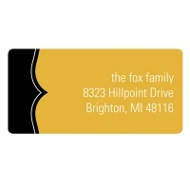 A Fine Line in Yellow New Year's Address Labels