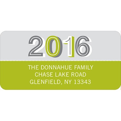 Year 2013 -- New Year's Address Labels