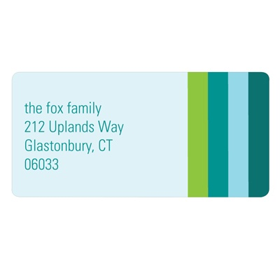 Seasonal Stripes -- New Year's Address Labels