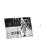 Classy Greeting -- Horizontal Photo New Year's Cards