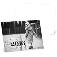 Classy Greeting Horizontal Photo New Year's Cards