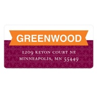 Banner Greetings New Year's Address Labels