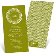 Damask Circle Rehearsal Dinner Invitations