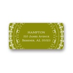 Damask Circle -- Wedding Address Label