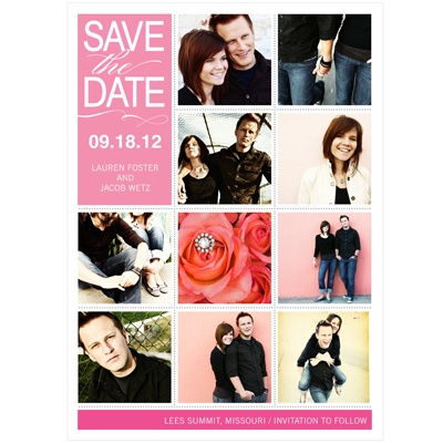 Snapshots of Love Custom Save the Date Cards