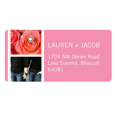 Snapshots of Love Save the Date Address Label