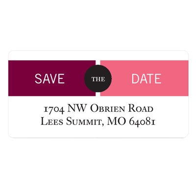Adjoining Banner Save the Date Address Labels