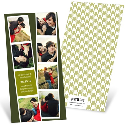 Photo Booth Strips Save the Date Cards