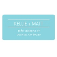 Simply Lined Save the Date Address Label