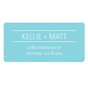 Simply Lined -- Save the Date Address Label